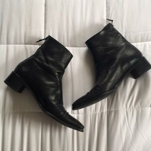 STUART WEITZMAN Black Leather Boot, Sz 7.5